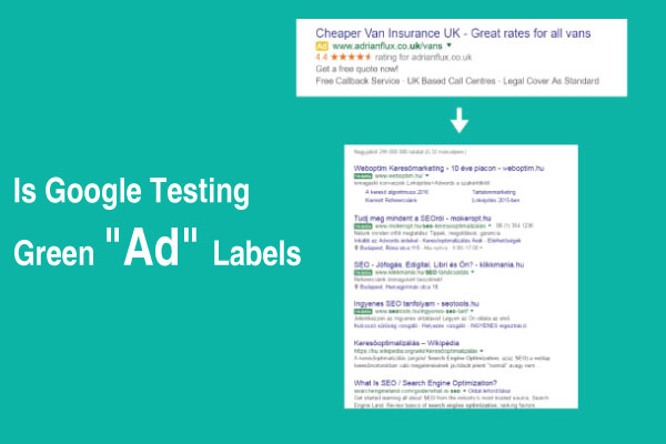 Google-Testing-Green-Ad-Labels