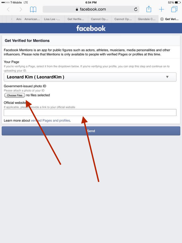 How To Get Verified On Facebook With Mentions Step 10