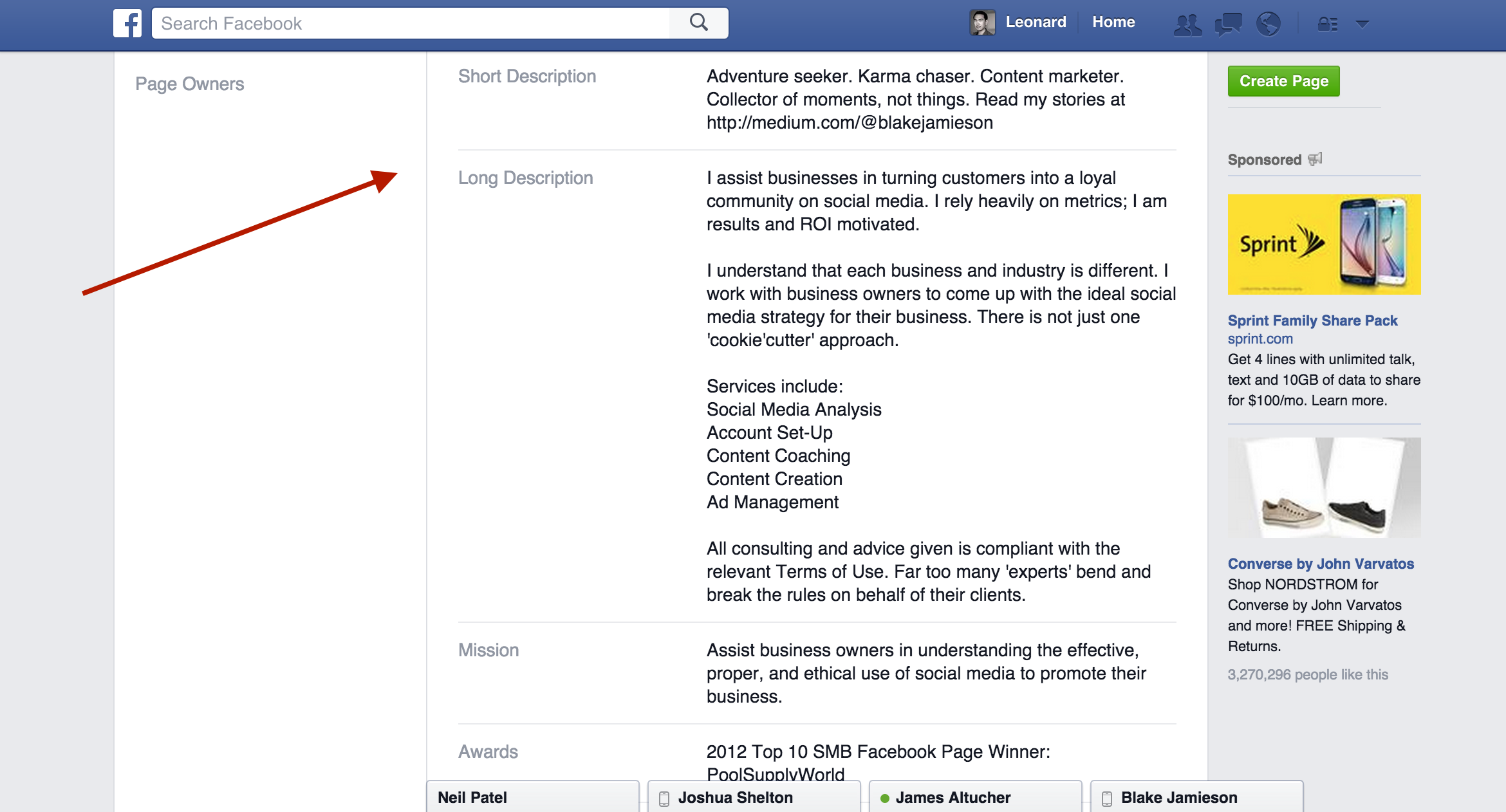 How To Get Verified On Facebook With Mentions Step 3
