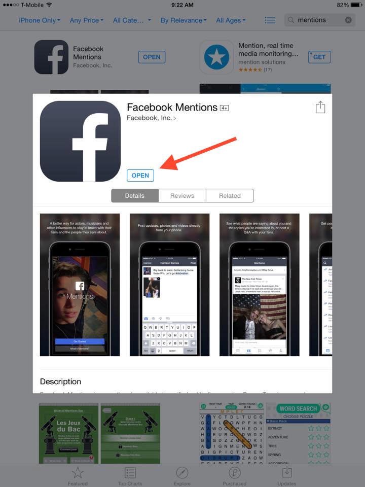 How To Get Verified On Facebook With Mentions Step 4
