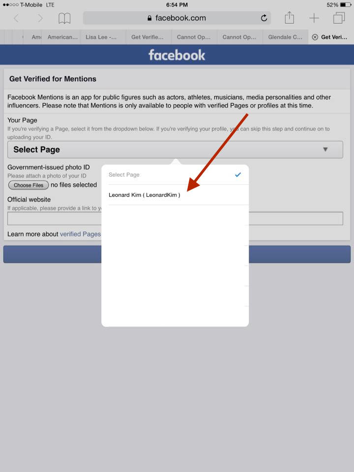 How To Get Verified On Facebook With Mentions Step 9