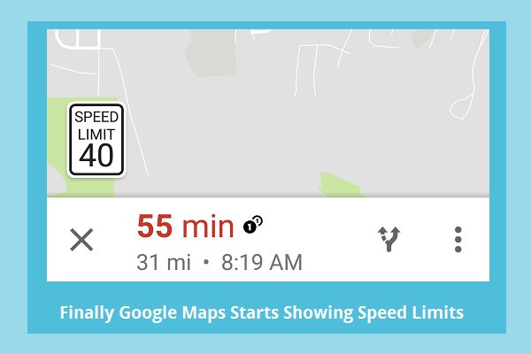 Finally Google Maps Starts Showing Speed Limits