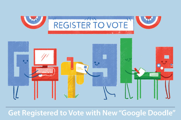 "Now Get Registered to Vote with New ""Google Doodle"""