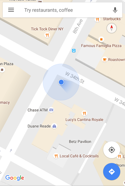 Google Maps Now Showing Beam Instead of Direction Arrow