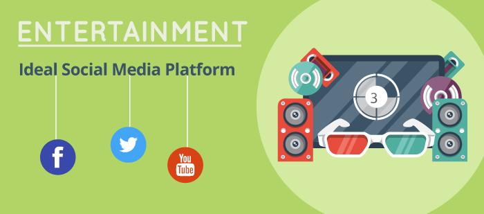 Ideal social media platforms for entertainment industry