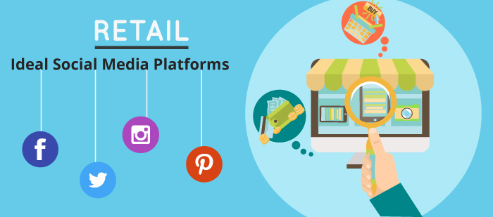 Ideal social media platforms for retail industry