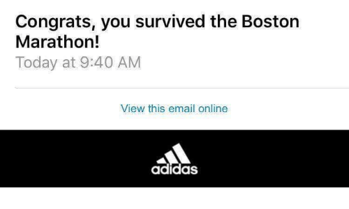 addidas boston marathon screenshot