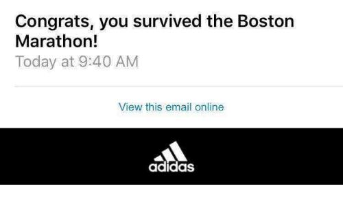 addidas boston marathon screenshot