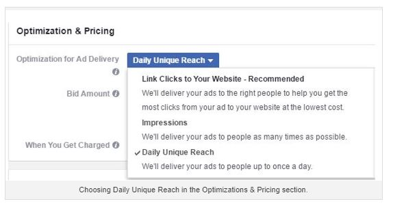 facebook ad campaign screenshot