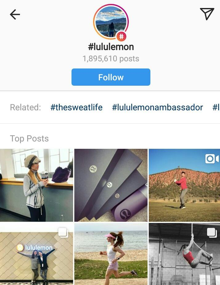 lululemon-instagram-page-screenshot
